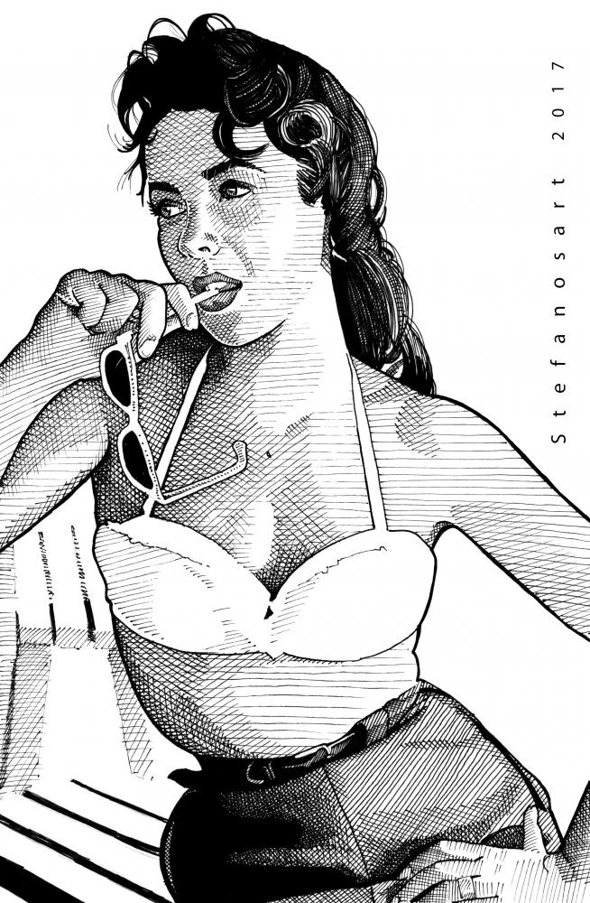 Elizabeth Taylor by Stefanosart